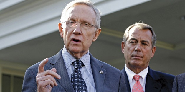 Sparing their colleagues: Harry Reid and John Boehner (AP Photo/Jacquelyn Martin, File)